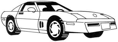 Как нарисовать автомобиль Корвет в 5 шагов