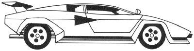 Как нарисовать автомобиль Lamborghini поэтапно в 5 шагов