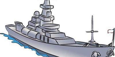 Как нарисовать корабль Эсминец поэтапно в 8 шагов