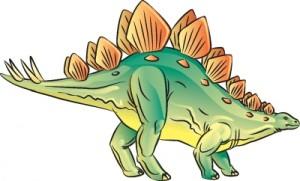 Как нарисовать динозавра Стегозавра поэтапно в 7 шагов