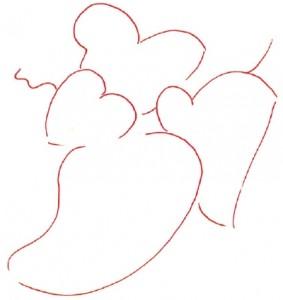 Как нарисовать гроздь винограда поэтапно в 5 шагов. Шаг 1