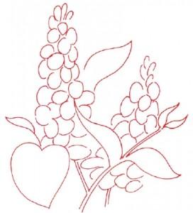 Как нарисовать цветы Сирени поэтапно в 5 шагов. Шаг 1