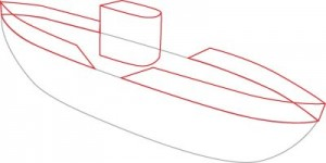 Как нарисовать подводную лодку поэтапно в 6 шагов. Шаг 2