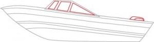Как нарисовать катер поэтапно в 5 шагов. Шаг 3