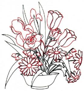 Как нарисовать Цветочную Композицию из полевых цветов поэтапно в 7 шагов. Шаг 4