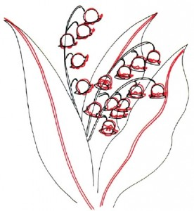 Как нарисовать цветы Ландыши поэтапно в 5 шагов. Шаг 4