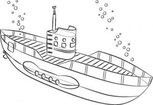 Как нарисовать подводную лодку поэтапно в 6 шагов. Шаг 6