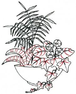 Как нарисовать Цветочную композицию поэтапно в 7 шагов. Шаг 6