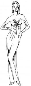 Как нарисовать человека поэтапно в 5 шагов. Девушка в вечернем платье.