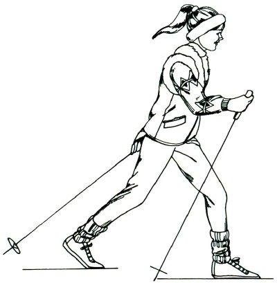 Как нарисовать Лыжника поэтапно в 5 шагов