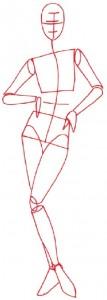 Как нарисовать человека поэтапно в 5 шагов. Девушка в вечернем платье. Шаг 1
