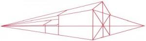 Как нарисовать кирпичный дом поэтапно в 5 шагов. Картинка 2.