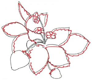 Как нарисовать Клубнику поэтапно в 5 шагов. Шаг 2