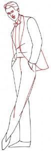 Как нарисовать Мужчину в костюме поэтапно в 5 шагов 3