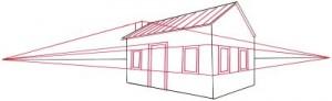 Как нарисовать Деревенский Домик поэтапно в 4 шага 3