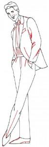 Как нарисовать Мужчину в костюме поэтапно в 5 шагов 4