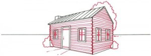 Как нарисовать Деревенский Домик поэтапно в 4 шага 4