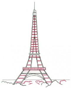 Как нарисовать Эйфелеву башню поэтапно в 5 шагов 5