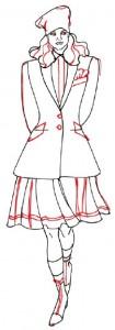 Как нарисовать Девушку в юбке и пиджаке поэтапно в 5 шагов 5