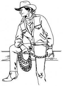 Как нарисовать Ковбоя поэтапно в 5 шагов 1