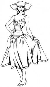 Как нарисовать Девушку в сарафане поэтапно в 5 шагов 1