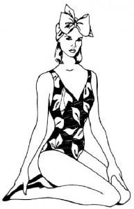 Как нарисовать Девушку в купальнике поэтапно в 5 шагов 1