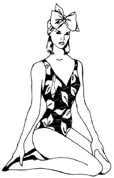 Как нарисовать Девушку в купальнике поэтапно в 5 шагов