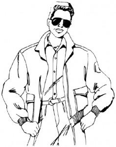 Как нарисовать Мужчину в куртке поэтапно в 5 шагов 1