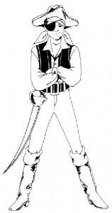 Как нарисовать Мальчика пирата поэтапно в 5 шагов 1