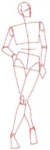 Как нарисовать Женщину в пальто поэтапно в 5 шагов 2