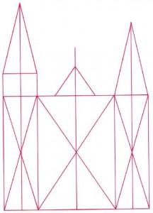 Как нарисовать Собор поэтапно в 5 шагов 2
