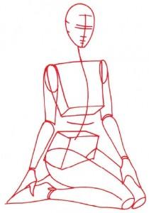 Как нарисовать Девушку в купальнике поэтапно в 5 шагов 2