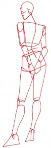 Как нарисовать Девушку в коктейльном платье 2