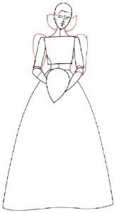 Как нарисовать Невесту поэтапно в 5 шагов 3