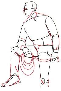 Как нарисовать Ковбоя поэтапно в 5 шагов 3