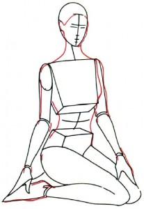 Как нарисовать Девушку в купальнике поэтапно в 5 шагов 3