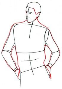 Как нарисовать Мужчину в свитере поэтапно в 5 шагов 3