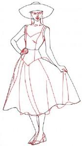 Как нарисовать Девушку в сарафане поэтапно в 5 шагов 4
