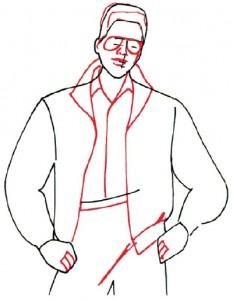 Как нарисовать Мужчину в куртке поэтапно в 5 шагов 4