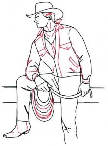 Как нарисовать Ковбоя поэтапно в 5 шагов 5