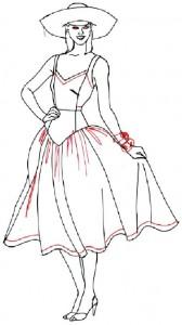 Как нарисовать Девушку в сарафане поэтапно в 5 шагов 5