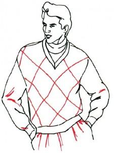 Как нарисовать Мужчину в свитере поэтапно в 5 шагов 5
