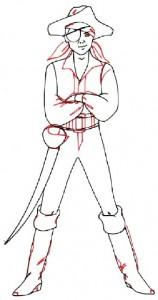 Как нарисовать Мальчика пирата поэтапно в 5 шагов 5