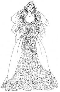 Как нарисовать Невесту поэтапно в 5 шагов 6