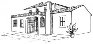 Как нарисовать Испанскую Виллу шаг 5.