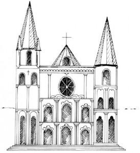 Как нарисовать Собор поэтапно в 5 шагов 6