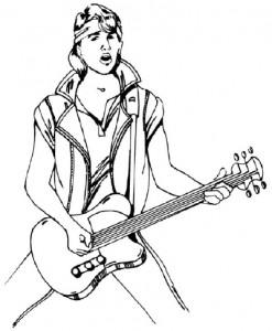 Как нарисовать человека с гитарой поэтапно в 5 шагов 1