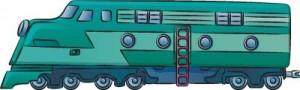 Как нарисовать Поезд поэтапно в 7 шагов 1