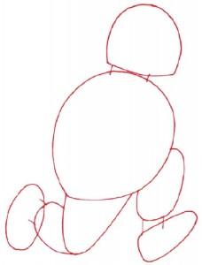 Как нарисовать Толстяка поэтапно в 5 шагов 2