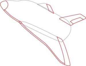 Как нарисовать Ракету поэтапно в 7 шагов 3